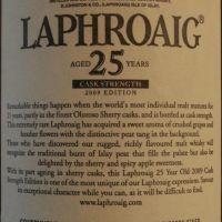 (現貨) LAPHROAIG 25 years cask strength 2009 Edition 拉佛格 25年原酒 2009版 (750ml 51%)