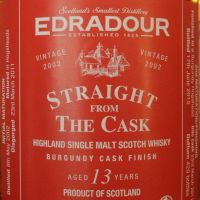 (現貨) EDRADOUR 13 years Burgundy Cask Finish 艾德多爾 13年 紅酒桶 原酒 (500ml 58.1%)