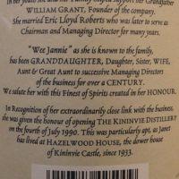 (現貨) HAZELWOOD 105 Kininvie Distillery 奇富 Janet Sheed Roberts 105歲紀念版  (700ML 52.5%)