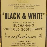 (現貨) Black & White blended whisky bottled 1960s 黑白狗 彈弓瓶 絕版老品 (760ml 43%)