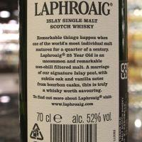 (現貨) LAPHROAIG 25 Years Cask Strength 2018 Edition 拉佛格 25年原酒 2018版 (700ml 52%)