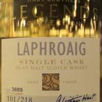 (現貨) Hart Brothers - Laphroaig 1990 28 years Single Cask 威伯特 拉佛格 28年 單桶原酒 (700ml 46.1%)