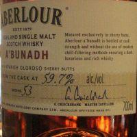 Aberlour a'Bunadh Batch No.53 亞伯樂 雪莉桶原酒 第53批次 (59.7% 30ml)