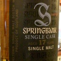 Springbank 17yr Single Cask 雲頂 17年 單桶 (58.7% 30ml)