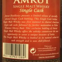 Amrut 2011~2016 Px-Sherry Single Cask 雅沐特 PX雪莉單桶 (56.5% 30ml)