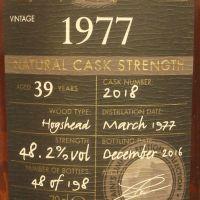 Chieftain's 39yr 1977 Naturel Cask Strength 老酋長 1977 39年 單桶原酒 (48.2% 30ml)