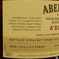 Aberlour A'Bunadh Batch No.47 亞伯樂 雪莉桶原酒 第47批次 (60.7% 30ml)