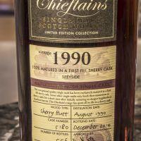 Chieftain's 1990 Sherry Butt Single Cask 老酋長 1990 雪莉單桶原酒 (52.7% 30ml)