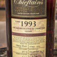 Chieftain's 1993 Sherry Butt Single Cask 老酋長 1993 雪莉單桶原酒 (54.4% 30ml)
