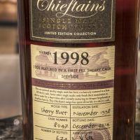Chieftain's 1998 Sherry Butt Single Cask 老酋長 1998 雪莉單桶原酒 (55.9% 30ml)