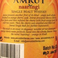 Amrut Naarangi - Oloroso Cask Single Malt Whisky 雅沐特 真橙 單一純麥威士忌 (50% 30ml)