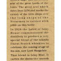 Islay Mist 17yr Limtied Edition 艾雷之霧 17年 限定版 (43% 30ml)