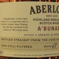 Aberlour A'Bunadh Batch No.61 亞伯樂 雪莉桶原酒 第61批次 (60.8% 30ml)
