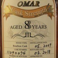 TTL Omar 8yr 2009-2018 Bourbon Cask Strength #074 臺灣菸酒 8年 波本桶原酒 (53.1% 30ml)