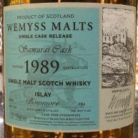 Wemyss Malts-Bowmore 1989-2018 Samurai Cask #7048 威姆斯-波摩 28年 1989 單桶 (52% 30ml)