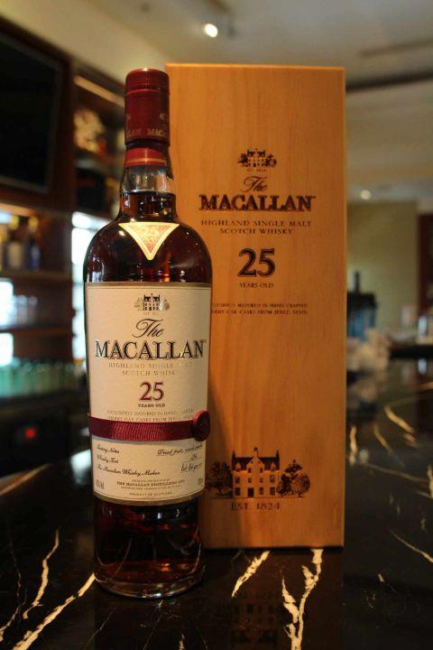 (現貨) Macallan 25 years 麥卡倫 25年 雪莉桶 (700ml 43%)