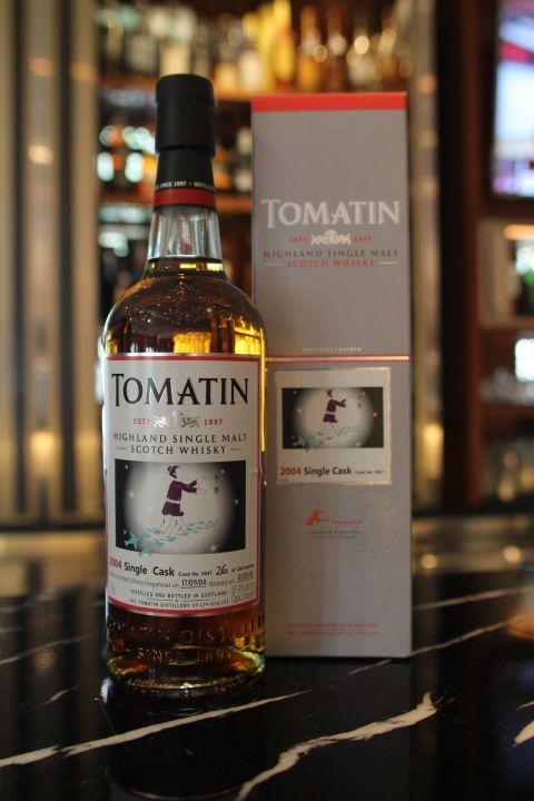 (現貨) Tomatin 2004 single cask 湯瑪丁2004單桶原酒 雪莉桶 七夕限量版-牛郎 (700ml 57.4%)