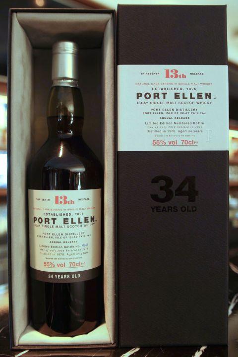 (現貨) Port Ellen 34 years 13th release 1978 波特艾倫 34年 第13版 1978 (700ml 55%)