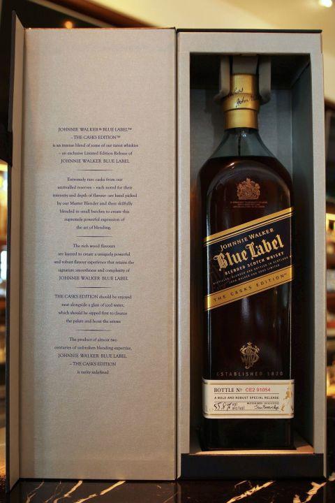 Johnnie Walker blue label the casks edition 約翰走路 藍牌原酒 (1L 55.8%)
