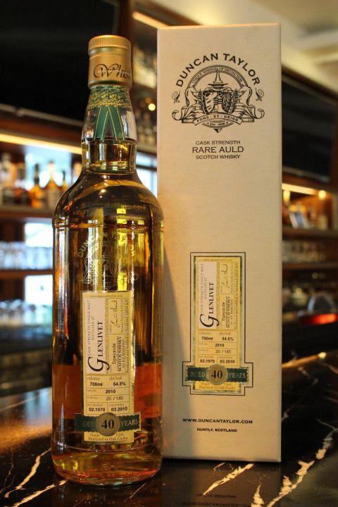 (現貨) Duncan Taylor Rare Auld Glenlivet 40 years 當肯泰勒 格蘭利威 40年原酒 (700ml 54.5%)