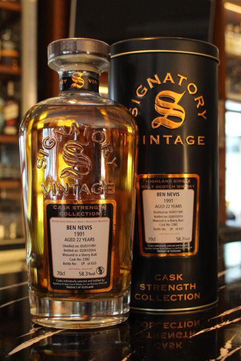 (現貨) Signatory Vintage Ben Nevis 1991 22 Years 原酒 (700ml 58.3%)