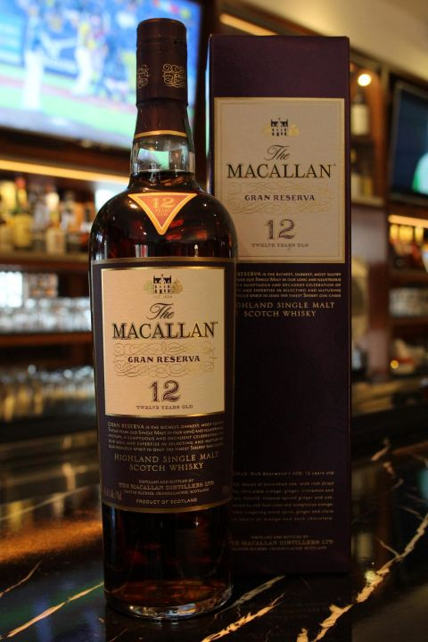 (現貨) Macallan 12 years Gran Reserva 麥卡倫 12年 紫鑽 (700ml 45.6%)
