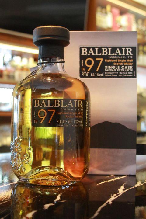 BALBLAIR Vintage 1997 Taiwan Exclusive 巴布萊爾 1997 單桶 桶號 910 (700ml 52.1%)