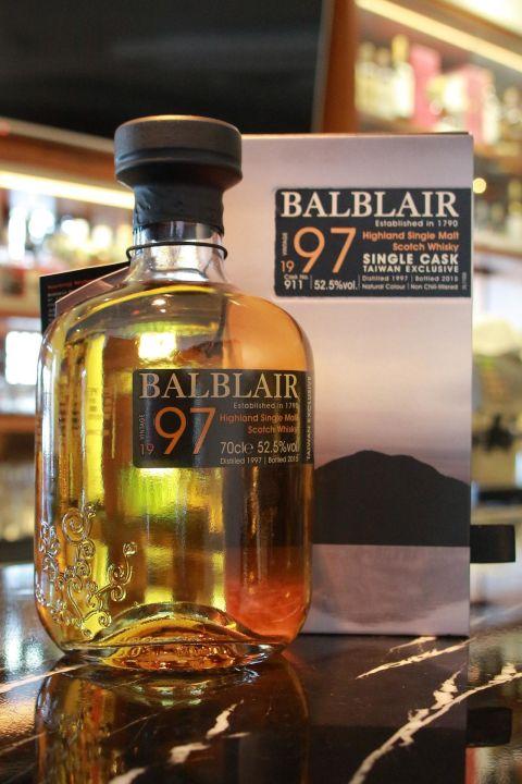 BALBLAIR Vintage 1997 Taiwan Exclusive 巴布萊爾 1997 單桶 桶號 911 (700ml 52.5%)