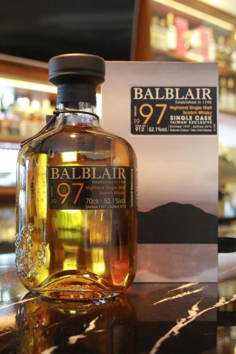 BALBLAIR Vintage 1997 Taiwan Exclusive 巴布萊爾 1997 單桶 桶號 912 (700ml 52.1%)