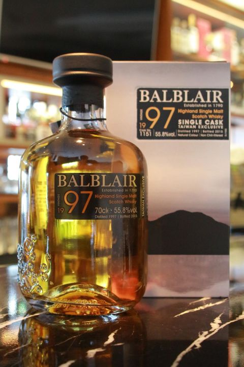 BALBLAIR Vintage 1997 Taiwan Exclusive 巴布萊爾 1997 單桶 桶號 1151 (700ml 55.8%)