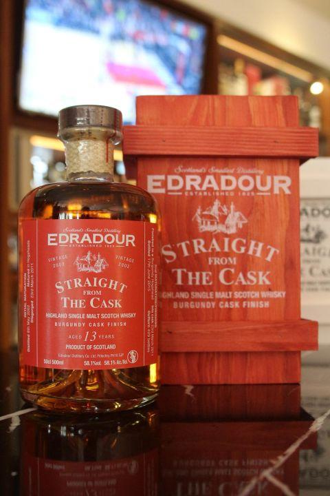 (現貨) EDRADOUR 13 years Burgundy Cask Finish 艾德多爾 13年 紅酒桶 原酒 (500ml 58.1%)