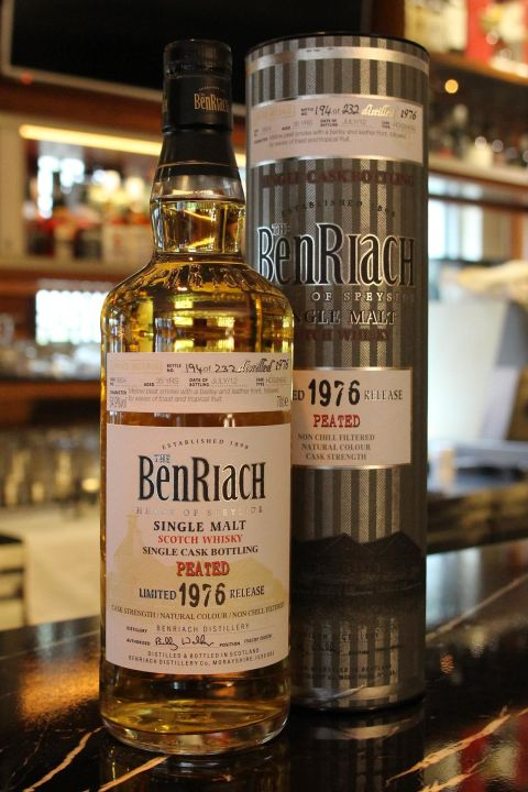 BenRiach 1976 35 years Peated Cask 班瑞克 1976 35年 泥煤桶 (700ml 54.9%)