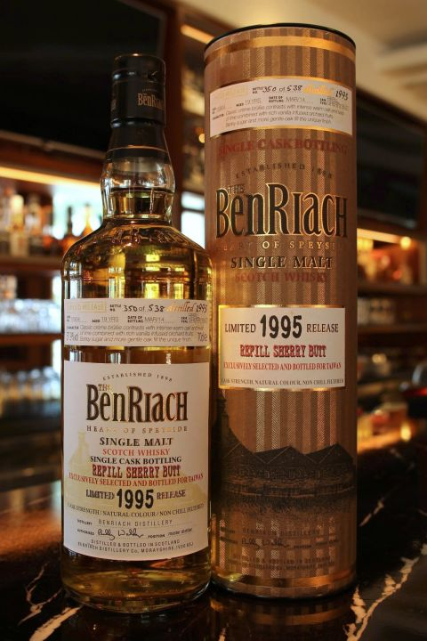 (現貨) BenRiach 19 years Refill Sherry Butt 班瑞克 19年 雪莉桶 單桶 (700ml 57.9%)