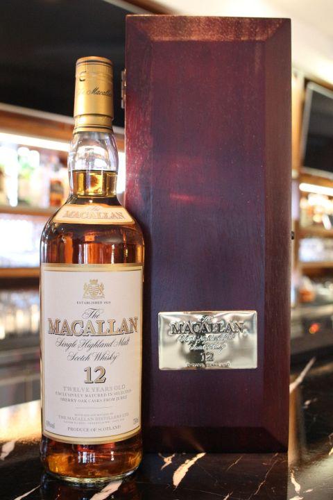 (現貨) Macallan 12 years 麥卡倫 12年 草寫版 木盒圓瓶 絕版 (750ml 40%)