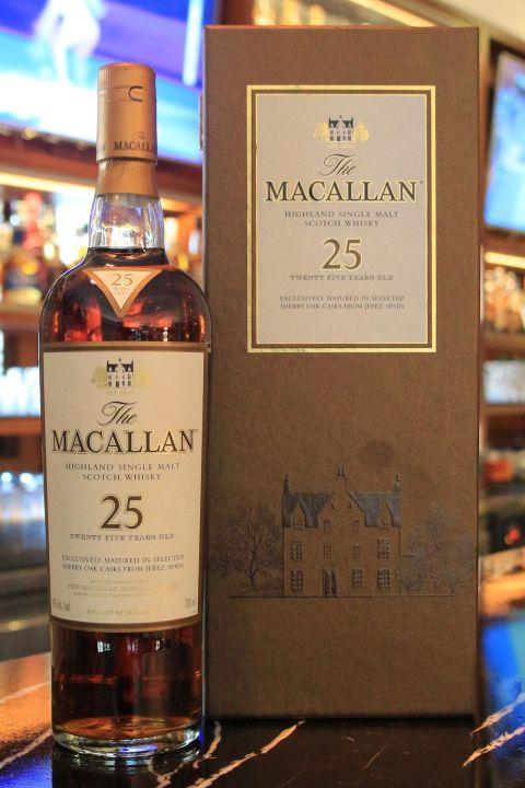 (現貨) Macallan 25 years 麥卡倫 25年 雪莉桶 紙盒版 (700ml 43%)