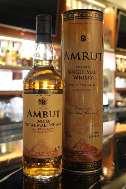 (現貨) India Amrut Single Malt Whisky Cask Strength 印度 雅沐特 加強桶 原酒強度 (700ml 61.8%)