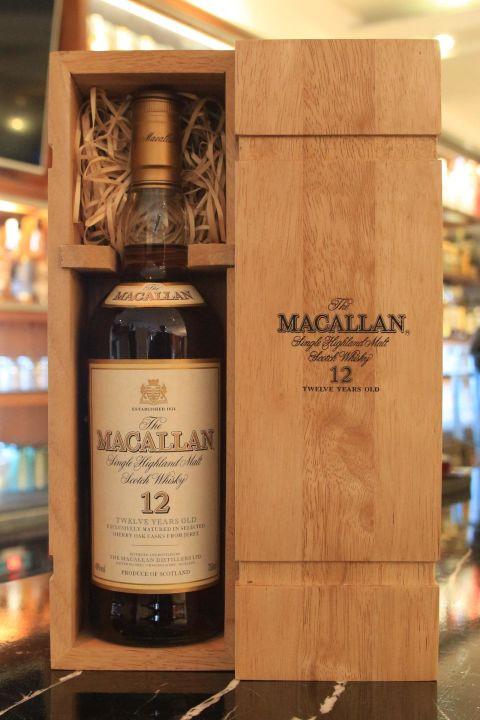 Macallan 12 years 麥卡倫 12年 舊版圓瓶  絕版木盒 (750ml 40%)