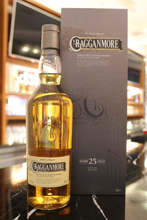 (現貨) Cragganmore 25 years Natural Cask Strength 克拉格摩爾 25年 原酒 (700ml 51.4%)