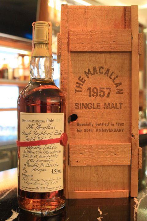 (現貨) Macallan 1957 25 years 麥卡倫 1957 25年 絕版珍藏 (750ml 43%)