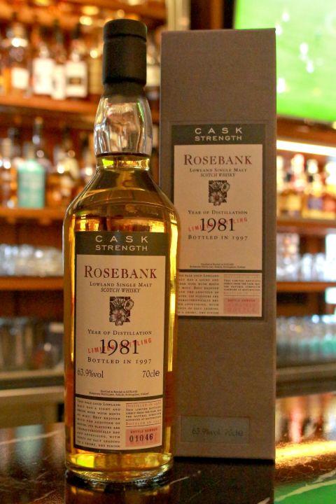 (現貨) ROSEBANK 1981 玫瑰河畔 1981 消失的酒廠 經典絕版 (700ml 63.9%)