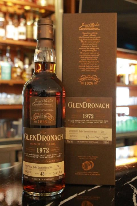GLENDRONACH 1972 PX Sherry Butt 格蘭多納1972 43年 PX雪莉 單桶 (700ml 51.1%)