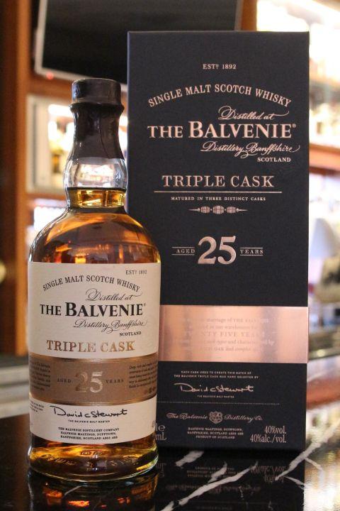 (現貨) The BALVENIE 25 years Triple Cask 百富 25年 三桶 (700ml 40%)