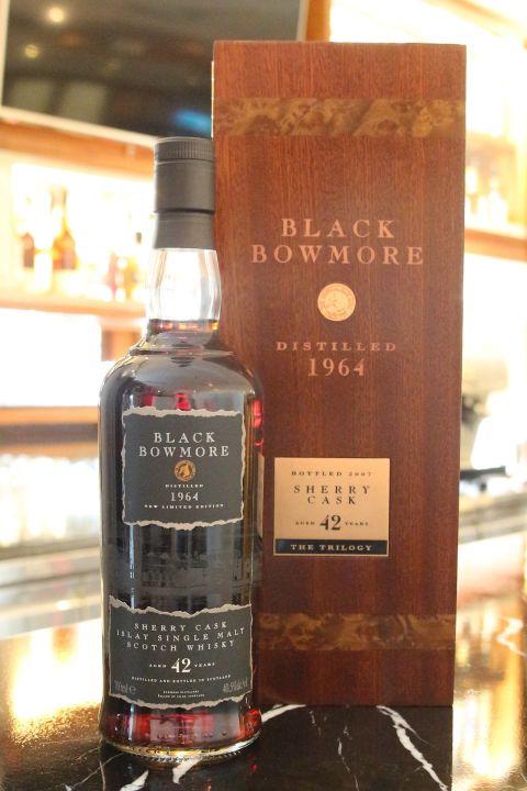 Black Bowmore 1964 42 years 黑波摩 1964 42年 珍藏逸品 (700ml 40.5ml)
