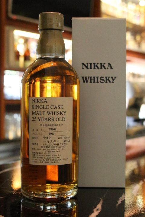 (現貨) Nikka Miyagikyo Distillery 25 years Single Cask 宮城峽 25年 單桶 酒廠限定 (500ml 59%)