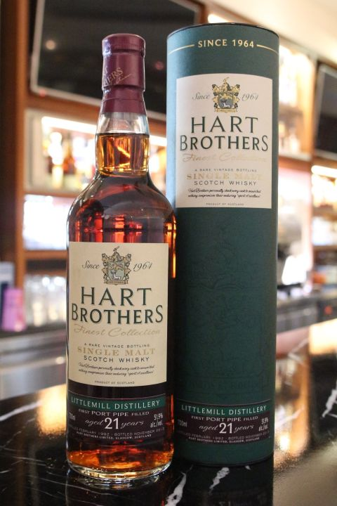 (現貨) Hart Brothers Littlemill 21 years 小磨坊 21年 稀有IB 消失的酒廠 (700ml 51.9%)