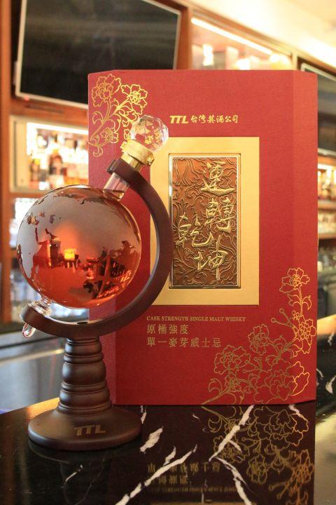TTL Cask Strength Whisky 台灣菸酒 運轉乾坤 原酒強度 2014限定 地球儀 (1000ml 56%)