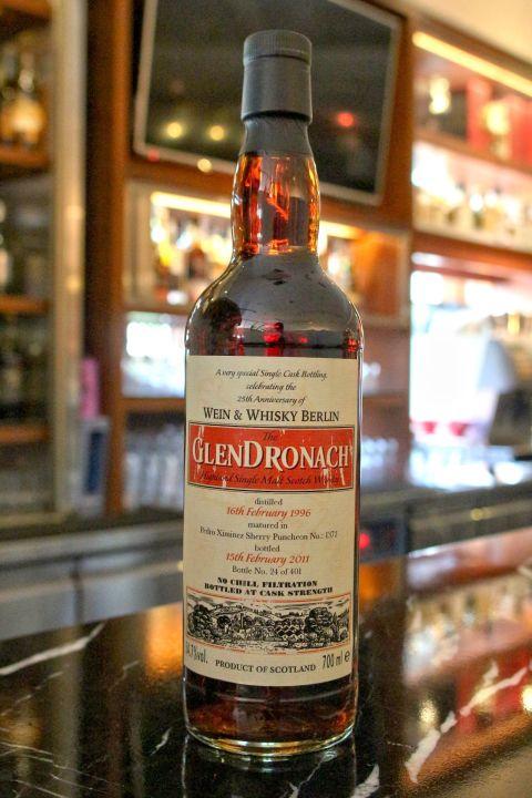 (現貨) GLENDRONACH 1996 PX Sherry Puncheon 格蘭多納1996 PX雪莉桶 單桶 (700ml 54.7%)