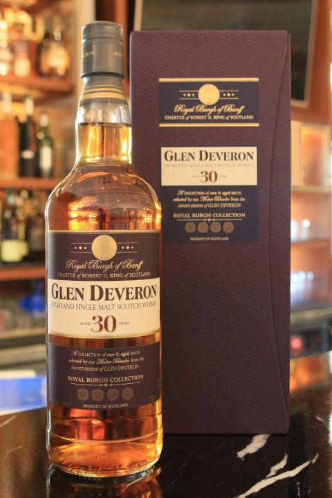 (現貨) GLEN DEVERON 30 years highland single malt whisky (750ml 40%)