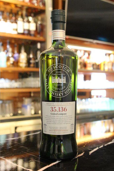 (現貨) SMWS 35.136 Glen Moray 15 years 格蘭莫雷 單桶原酒 15年 蘇格蘭威士忌協會 (700ml 59.5%)