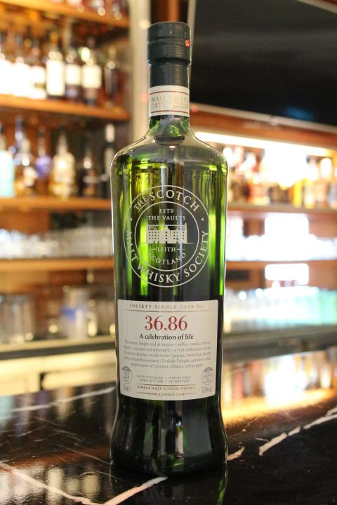 SMWS 36.86 BENRINNES 23 years 班蕊斯 單桶原酒  23年 蘇格蘭威士忌協會 (700ml 51%)